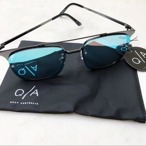 Quay Women's Sunglasses Private Eyes blue NEW